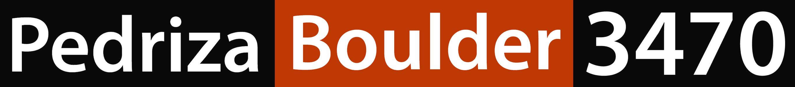 Pedriza Boulder 3470 logo